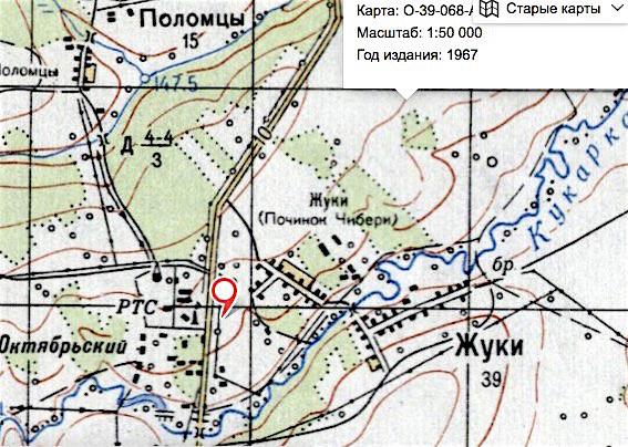 карта 1967 г.