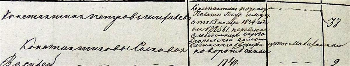Шихалевы 1834